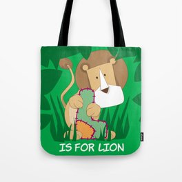 L is for Lion.. Tote Bag
