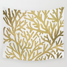Gold Coral Wall Tapestry