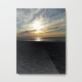 Sunset at Baltic Sea Metal Print