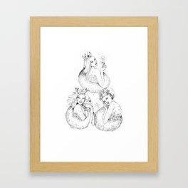 Christmas Fairies Framed Art Print