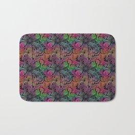 Rainbow Tie Dye Zentangle Bath Mat