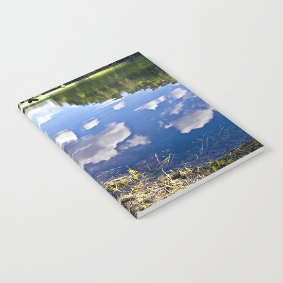 Summer Sky is touching water ground Notebook