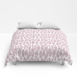Pink tribal feathers Comforters