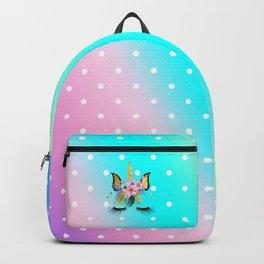Floral Rainbow Unicorn  Backpack