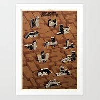 sex and the city Art Prints featuring ARCHISUTRA-sex-city by federico babina