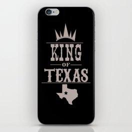 king of texas  iPhone Skin