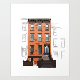 Brooklyn Brownstone Art Print