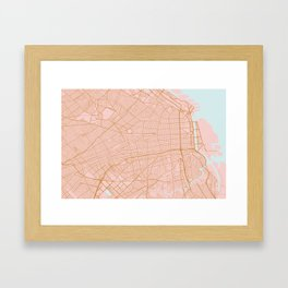 Buenos Aires map, Argentina Framed Art Print