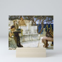12,000pixel-500dpi - Lawrence Alma-Tadema - Sappho And Alcaeus - Digital Remastered Edition Mini Art Print
