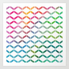 Rainbow Geometric Art Print