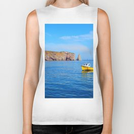 The Rock and the Yellow Boat Biker Tank