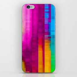 Vertical Rainbow Color Palette iPhone Skin