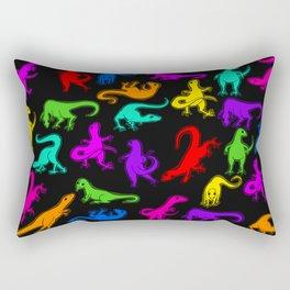 Glowing Dinos Rectangular Pillow