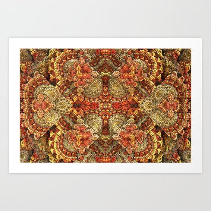 Turkey Feathers Art Print