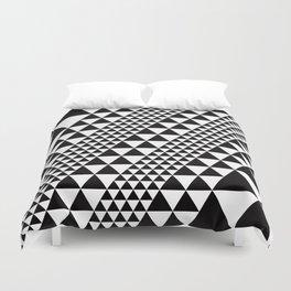 Geometric Pattern #39 (black triangles) Duvet Cover
