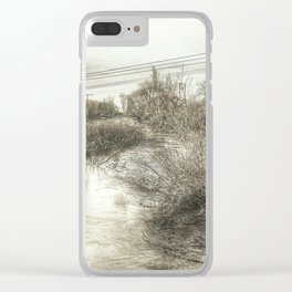 Whimsical Water Landscape Clear iPhone Case