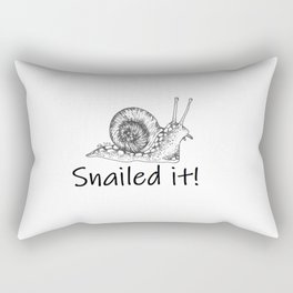 Snailed it! Rectangular Pillow