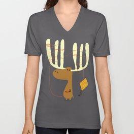 A moose ing Unisex V-Neck