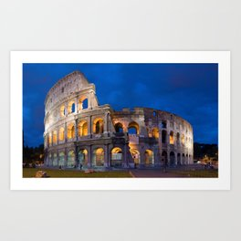 Colosseum By Night Art Print
