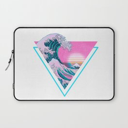 Vaporwave Aesthetic 90's Great Wave Off Kanagawa Laptop Sleeve
