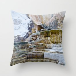 Yellowstone Hot Springs Throw Pillow