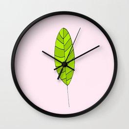 lonely leaf - Wall Clock