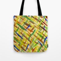 the strokes Tote Bags featuring brush strokes by littlesilversparks