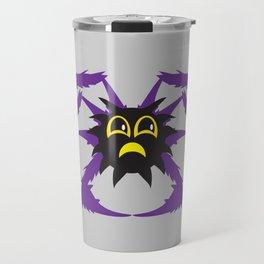 Spooky Spiders - Cute Moody Jim Cartoon Spider on Web Travel Mug