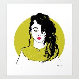 Starring girl Art Print