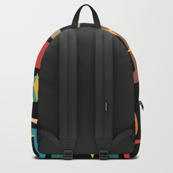 Retro Mid Century Modern Abstract Pattern 223 Backpack