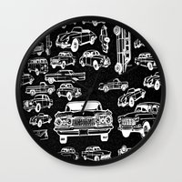 cars Wall Clocks featuring Cars by liberthine01