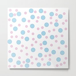Polka dots in fashion Metal Print