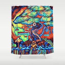 Psych Surrealism Shower Curtain