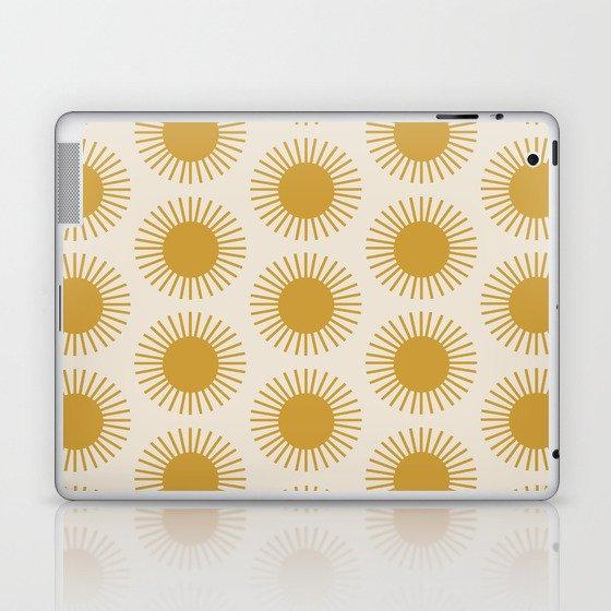Golden Sun Pattern Laptop & iPad Skin