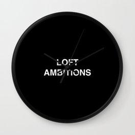 Loft Ambitions - Black Wall Clock
