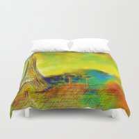 eiffel Duvet Covers featuring Eiffel by Alexandre Reis