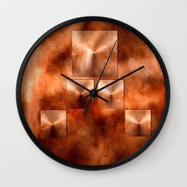 Penny Pyramids Wall Clock