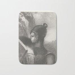 Brunhilde, Odilon Redon, 1885 Bath Mat