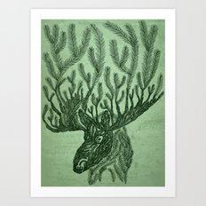 Moose-fir Art Print