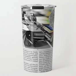 The Parasol Girl and The Parrot Travel Mug