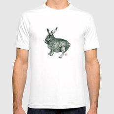 Cold Rabbit Mens Fitted Tee MEDIUM White