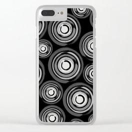 Enso Circles - Zen Circles pattern #2 Clear iPhone Case