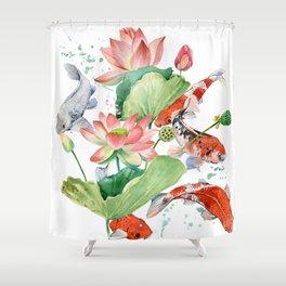 koi carp fish Shower Curtain