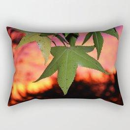 Leafy Sunset Rectangular Pillow