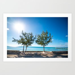 Turks and Caicos beach Art Print