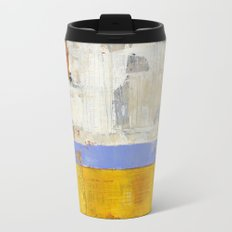 Amenity Abstract Landscape Yellow Modern Shawn McNulty Metal Travel Mug