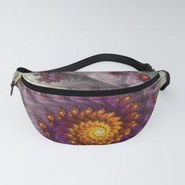 Saffron Frosting - Fractal Art Fanny Pack