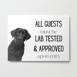 Lab Testing Metal Print