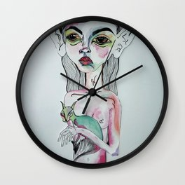 Sister with Siamese Wall Clock