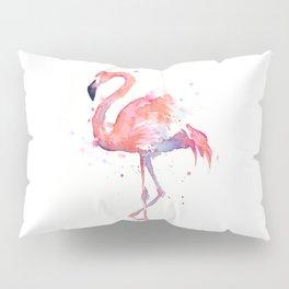 Flamingo Watercolor Pillow Sham